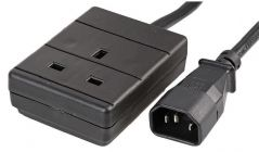 PRO POWER PEL01254  Iec C14 Plug To 13A Socket Black 1M